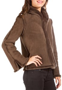 Chloé Chloe Trim Suede Brown Jacket