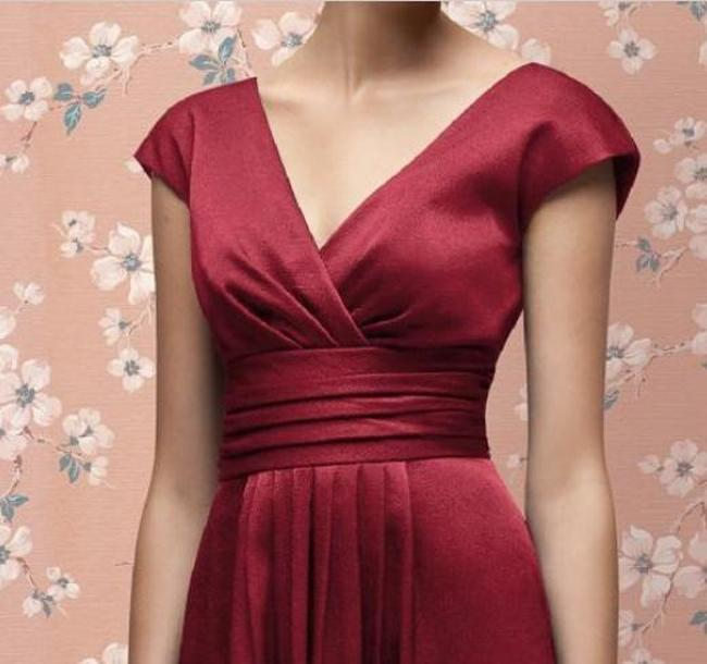 Lela Rose Sleeveless Cocktail Length Satin Dress