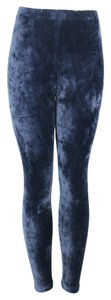 Other Velvet Velour Soft Tights Pants Vintage Navy Leggings