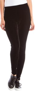 Vince Stretch Velvet Black Leggings