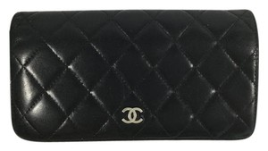 Chanel Chanel Black Lambskin Quilted Wallet