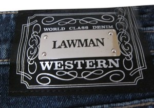 LAWMAN Rhinestone Denim Country Boot Cut Jeans-Medium Wash