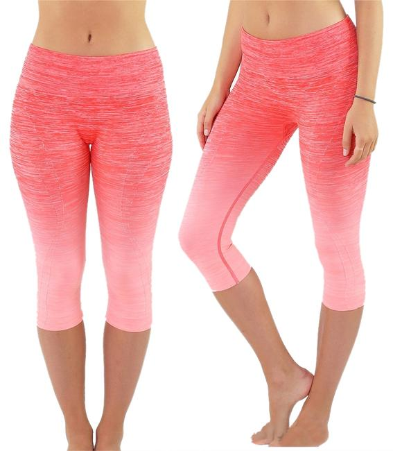 Preload https://img-static.tradesy.com/item/8327491/pink-and-neon-coral-high-waist-fitness-pants-printed-stretch-cropped-leggings-activewear-sportswear-0-2-650-650.jpg