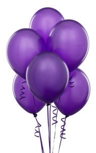 "Purple 48 Pcs - 12"" Birthday Party Decor Latex Balloons Ceremony Table Top Ceiling Arch Flower Girl Basket"