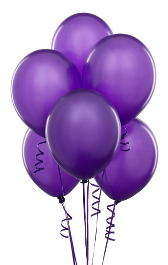 """Purple 48 Pcs - 12"""" Birthday Party Decor Latex Balloons Ceremony Table Top Arch Flower Girl Basket"""