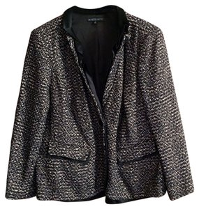 Lafayette 148 New York Black Metallic Tweed Blazer