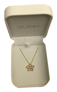 Na Hoku Na'Hoku 14K Gold Floating Plumeria Diamond Pendant