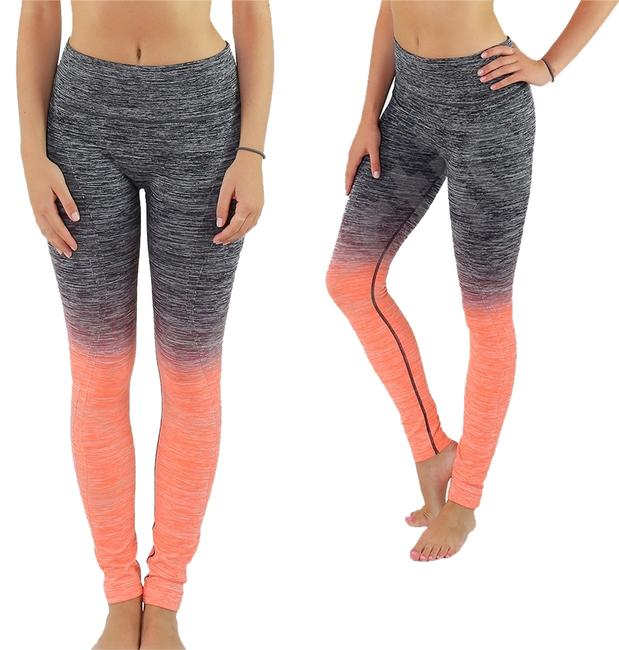 Preload https://img-static.tradesy.com/item/8327566/black-and-neon-coral-high-waist-fitness-pants-printed-stretch-cropped-leggings-activewear-sportswear-0-2-650-650.jpg