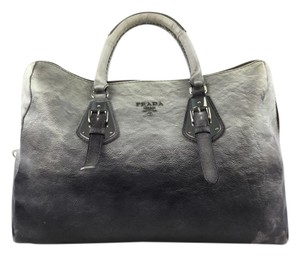 Prada Overnight Gray Ombre Travel Bag