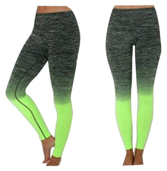 Preload https://img-static.tradesy.com/item/8327623/black-and-neon-green-women-long-cropped-leggings-pants-for-gym-fitness-workout-wear-activewear-sport-0-2-650-650.jpg