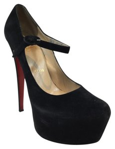 Christian Louboutin Daffodile Suede Leather Black Platforms