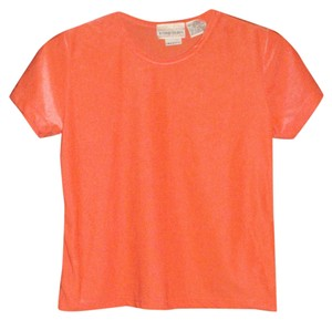 Sigrid Olsen T Shirt Orange Coral