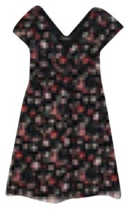 Betsey Johnson short dress Black Floral Silk on Tradesy