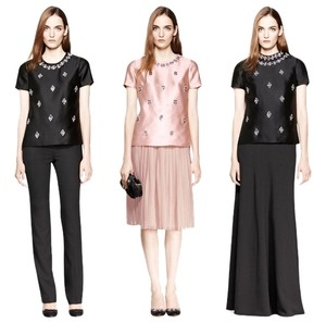 Tory Burch Blush Jeweled Beaded Sequin Embellished Dress Dressy Top Pink