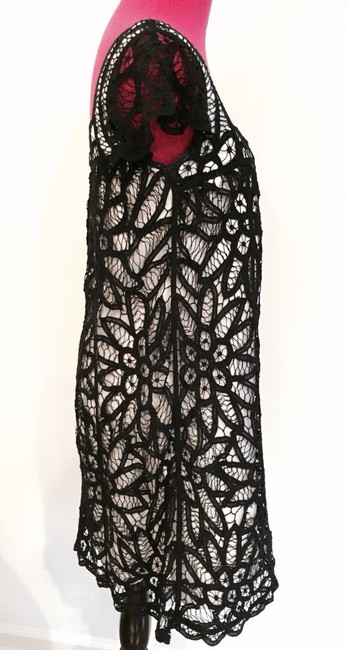 Betsey Johnson short dress Black & White Battenberg Lace Designer Chic Classic Date Night on Tradesy