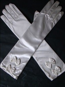 White Bogo Free Long Prom Free Shipping Gloves