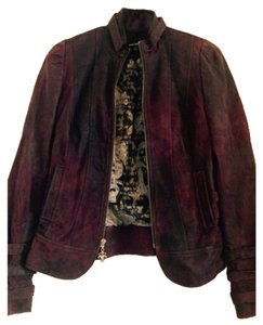 Royal Underground Deep purple/burgundy Leather Jacket