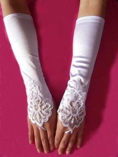 Bogo Free White Satin Wedding/prom Long Gloves Free Shipping