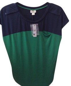 Worthington T Shirt Blue & Green