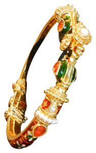 Other Indian gold plated /multi-colored enameled bangle
