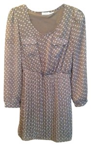 Blue Bird short dress Tan Polka Dot on Tradesy