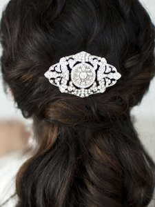 Mariell Art Deco Crystal Wedding Hair Comb