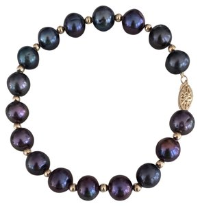bjewelled Lovely 14kt Peacock Pearl Bracelet