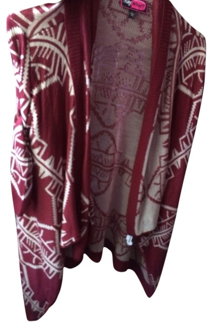 Item - Burgundy // Tan Aztec Cardigan Size 12 (L)
