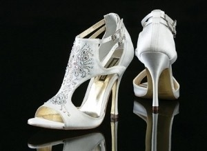 Benjamin Adams Madrid: Silver Size 9 Wedding Shoes