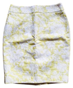 Ann Taylor Skirt White with yellow flowers