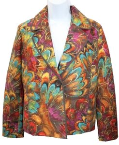 Chico's Printed Cotton Jacket Blazer