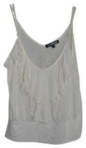 Coolwear Summer Ruffle White Xl Button Never Worn Spaghetti Strap Adjustable Top ivory