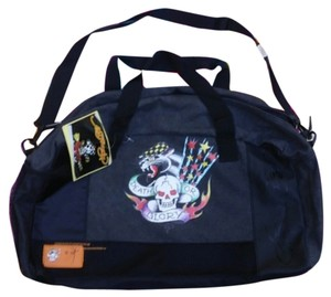 Ed Hardy Black & Gray Travel Bag