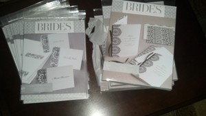 3 Brides Place Cards And 3 Brides Wedding Programs