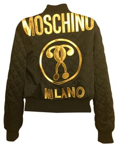 Moschino Bomber Quilted Black Jacket