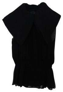 Fendi Vintage Silk Sleeveless Designer Top Black