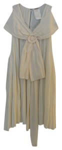 Chloe Silk Pleated Top Cream