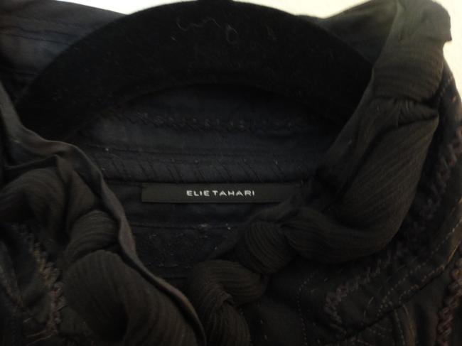 Elie Tahari Silk Black Jacket