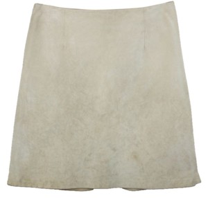 Ann Taylor Suede Leather Skirt