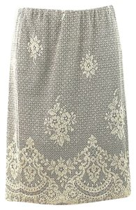 Rene Ruiz Stretch Lace Print Skirt