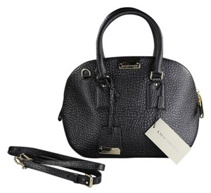 Burberry Orchard Leather Satchel in Black