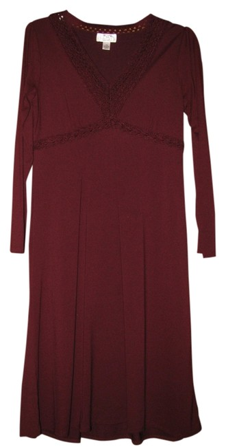Preload https://img-static.tradesy.com/item/834233/ann-taylor-loft-maroon-a-line-knee-length-short-casual-dress-size-petite-10-m-0-0-650-650.jpg