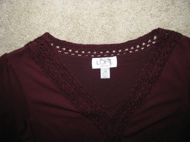 Ann Taylor LOFT short dress Maroon on Tradesy