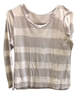 BCBG T Shirt Gray White