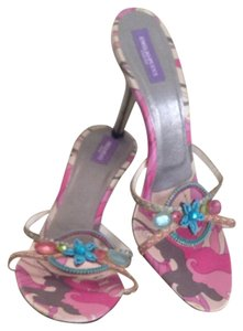 Emilio Pucci Pucci Stilletos Date Night Pink Multi/Pewter Sandals