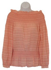Tory Burch Top pink W/ white strips