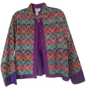 Coldwater Creek Purple, red, green Jacket