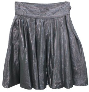 French Connection Cotton Skirt METALLIC