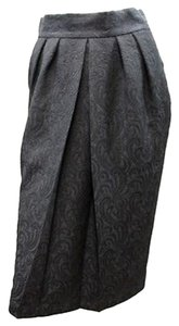 Newport News Damask Skirt BLACK