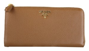 Prada * Prada Vitello Grain Tan Leather Wallet - 1M1183